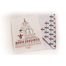 A Spicy Cajun Christmas Greeting Card
