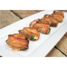 Bacon Wrapped Jalapenos Stuffed w/ Shrimp & Cream Cheese