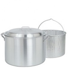 CRAWFISH POT 34 Qt. Fryer/Steamer w/Lid & Basket- Aluminum