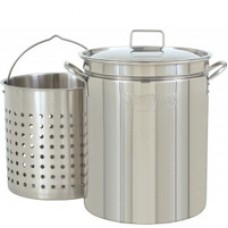 CRAWFISH POT 44 Qt. Fryer/Steamer w/Lid & Basket- Stainless