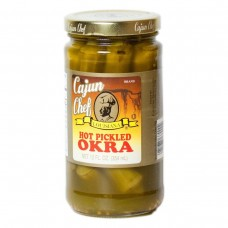 Cajun Chef Hot Pickled Okra 12 oz