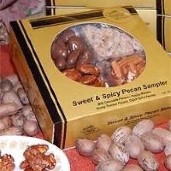 Classic Golden Pecans Sweet & Spicy Pecan Sampler