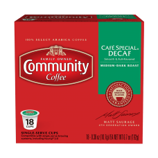 Community Single Serve Cafe Decaf
