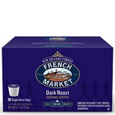 FRENCH MARKET Dark Roast Single Serve Cups