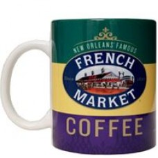 FRENCH MARKET Mardi Gras Ceramic Mug