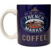 FRENCH MARKET Purple Ceramic Mug