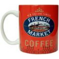 FRENCH MARKET Red Ceramic Mug