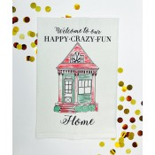 Happy Crazy Fun Kitchen Towel