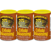 Konriko Creole Seasoning 6 oz Canister Pack of 3