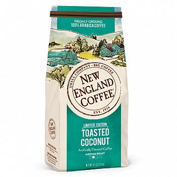New England Coffee Toasted Coconut Ground 11 oz Bag