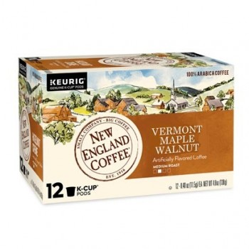 New England Coffee Vermont Maple Walnut Single Serve 12 count