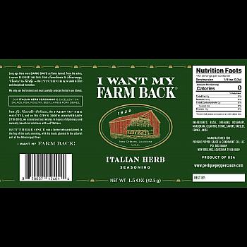 Perique I Want My Farm Back Italian Herb