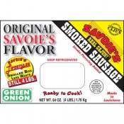 Savoie's Smoked Mixed Green Onion Sausage 4 lb