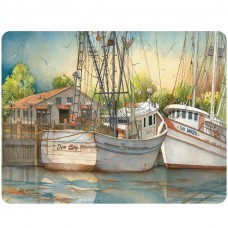 Shrimp Boat Cutting Board (tempered glass)