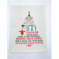 Spicy Cajun Christmas Kitchen Towel