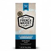 French Market St Charles Blend Dark Roast Whole Bean 12 oz Bag