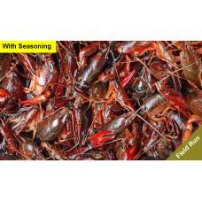 Live Crawfish Washed Field Run with seasoning